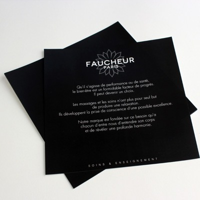 flyer noir qualité premium par copytop
